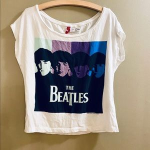 Divided Beatles oversized crop T. SX S